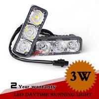2PCS 3W LED Daytime Running Light Waterproof Universal Led DRL for Car Univercial Driving Light External Light Save on 9W 12W