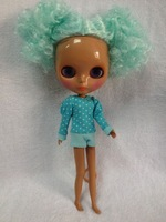 Nude dolls(Mint green  hair,black skin )