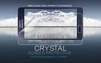 10PCS/LOT 100% Nillkin LCD CRYSTAL Anti - fingerprint Screen protector film for Samsung Galaxy A5 A5000 ,Free shipping