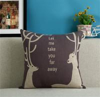 1pcs cushion cover Deer Cartoon Pattern back cushions for sofas car almofadas emoji almohadones decorative pillows sofa KD04