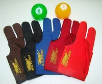 10pcs/lot high Elasticity 3 finger billiard gloves/Pool gloves/ Snooker billiard table Gloves freeshipping