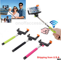 2014 New Christmas Gift Z07-5 Extendable Handheld Rechargeable Wireless Bluetooth Selfie stick Monopod For iPhone/ Samsung