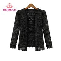 2014 European Women Cardigan Sweater Loose Long Sleeve Ladies Cardigans Fake Two Piece Black Beige Womens Sweaters Coats S12851