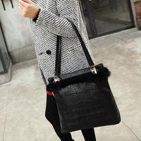 Bag 2014 women's fashion handbag leather cape hare bag vintage shoulder cross-body bag big bag
