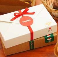 Hot White/Brown Christmas Brief Biscuit Box DIY Cookie Packaging Box,Handmade Soap Packaging, Paperboard Gift Box