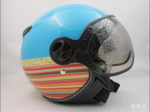 Free Shipping Taiwan lions helmet half helmet motorcycle helmet ZEUS ZS-210C Limited Edition Retro helmet Rainbow Series(China (Mainland))
