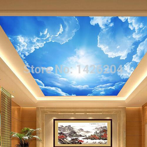 Фото обои 3д на потолок