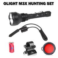 Olight M3x Tactical Flashlight +WM02 Gun Mount+Remote Switch+Red Filter