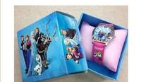 frozen watch kids fashion quartz cartoon Elsa Anna with box Cute Girl woman lady watches Children watch Free Shipping