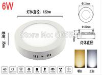 [Seven Neon]DHL shipping round shape AC90-265V 6W/12W/18W warm white/white LED panel light,LED down light ,led ceiling light
