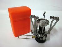 Outdoor Picnic Electro-Strike Gas-Powered Stove Butane Propane  Steel Stove Case