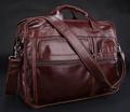 Free Shipping Fashion Men s Briefcases Vintage 100 Genuine Leather Red brown Messenger Shoulder Bag Most