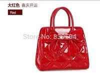 2014 new hand bag ladies handbag red bow bride wedding package