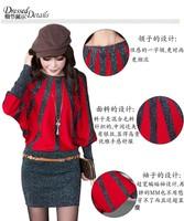 Winter and Spring women knit dress Plus size Slim patchwork women basic dress long sleeve casual women sweater dress Ae61