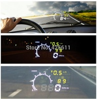 Ifound W02 LED Car HUD Vehicle-mounted Head Up Display System OBD II 2 Interface KM/h & MPH Fuel Consumption Overspeed Warning