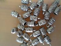 YBB Wholesale 7x14mm Zinc alloy Gold Hole Charm Bail Antiqued Silver bell Connectors Pendants Fit Bracelet LY268