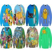 sport suit women Harajuku Adventure Time 3D Print Women Sweatshirt Sport Hoody Spring Autumn Pullover Casual Streetwear