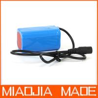 6000mAh 3.7v Li-ON 18650 protected Battery Pack For 1600lm 1200lm T6 L2 LED Bike Lamp bicycle Light
