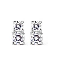 2014 Teemi New Hot Fashion Simple Statement Costum Bling Cubic Zirconia Women Stud Earrings Luxury Korean Style