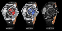 2014Home furnishings to men's fashion sports watches Double multifunctional LED water-resistant manufacturers supply