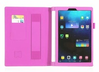 2015 Newest Stand Leather Case For Lenovo 10.1 inch YOGA Tablet 2 1050F +Free shipping