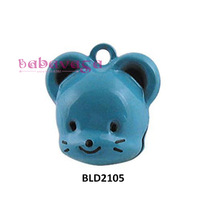 Hotsale Cute Copper Mouse Cartoon Bells Fit Charms Pendant Christmas Party New Year Decoration