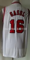 Free Shipping Pau Gasol Chicago Jersey #16 Cheap Basketball Jersey Authentic Shirt Stitched Logo Wholesale Mens Sport Jerseys