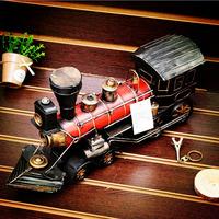 Antique wrought iron decoration vintage handmade steam model iron crafts