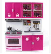 Kawaii Hello Kitty Girl Kids Kitchen Toys Set Children Brinquedos Meninas Gilr Dollhouse Furniture(China (Mainland))