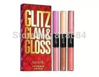 New Brand Long Lasting Glam Lipgloss Make-up Fruit Lip Balm 6 Shade Gloss Travel Size Kit Sets!!