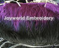 23cm Rayon trimming Tassel fringe loop bottom lace Gradient color Purple black 23cm