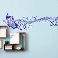 Classical music ZY033  purple 45*197cm  Butterfly wall sticker wallpaper wallpaper multicolor optional hot sale b