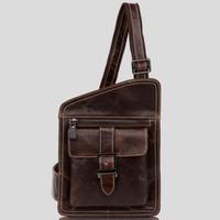 genuine leather messenger bags for men phone bag shoulder bag cowhide chest pack