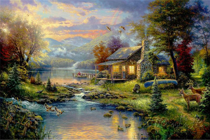 ... huisje schilderij uit China de kerst huisje schilderij Groothandel