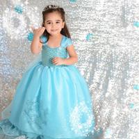 2014 Girls Clothing Dress Child Movie Costumes Girl Fashion Vestido Infantil Fantasia Princesa Anna Frozen Coronation Dresses