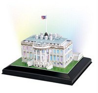 Cubic  Fun America LED lamp is acted the role of building 3 d puzzle model for Europe and the United States to hold