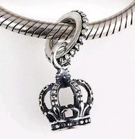 925 Sterling Silver Crown Pendant Dangle Bead Fits Pandora  Jewelry Bracelets Necklaces Pendants