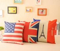 American flag fashion vintage fashion american style fabric fluid pillow kaozhen sofa cushion