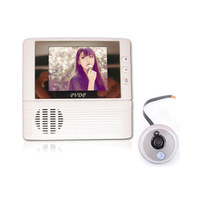"2.8"" LCD Monitor Digital Door Peephole Viewer 3x Zoom Camera Photo Cam Doorbell Home Security Camera"
