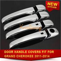 4PCS/Set of Door Handle Covers For Jeep Grand Cherokee for Patriot Chrome Grand Caravan Dodge