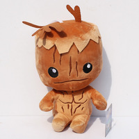 Free shipping 1pc 20cm Hot Movie Guardians of the Galaxy plush toy the tree man Groot plush doll cute treant with tag