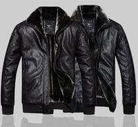 Newest Fashion Warm Winter PU Jacket man-made Sheep Skin Lamb Fur Trench Men Coat Zipper Blazer Men Jacket , / M-XXL