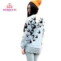 Women's Casual Hoodies 2014 Fashion Long Sleeve Printing Ladies Sweatshirt Loose Gray Pullover Sport Women Sweatshirts H12901