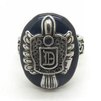 "Black Stone Lucky Powerful Ring,Stainless Steel Vinatge  ""vampire diaries"" Damon Ring Fashion Jewellery"