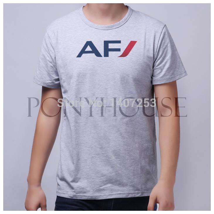 WGB SX AF AIR FRANCE top lycra cotton T-shirt Fashion men t shirt(China (Mainland))
