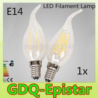 1x Energy saving E14 4W 8W Led Filament Light Bulb 360 Degree white,warm white lamp bulbs for home/indoor/kitchen AC220V AC230V