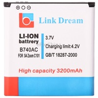B740AC New Arrive 3200mAh Replacement Battery for Samsung Galaxy SIV Zoom / C101 / C1010