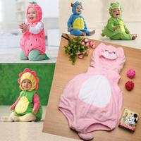 New 2015 infant baby/kid/children cartoon winter rompers boy/girl animal jumpsuits baby fleece Warm Clothing Roupas De