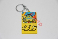 Free Shipping Motorcycles PVC Rubber Keyring Rossi VR46 The Doctor Keychain Key rings chains