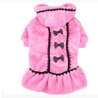 Retailed 2015  Hot Sale  Pet  dog winter coat hoody jumper dress black pink XS-XL LP112702